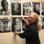 Hanging the show. Black Days - Homeless in Medford, OR